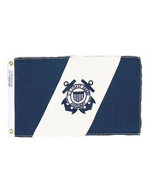 15 in. x 24 in. US Coast Guard Auxiliary Flag 12-Pack