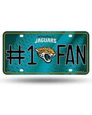 Jaguars #1 Fan Primary Logo Metal Logo Metal Car Tag