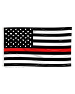 3 ft. x 5 ft. Thin Red Line US Flag