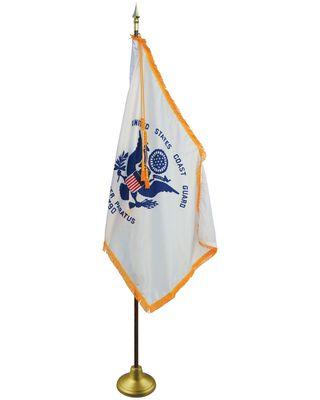 US Coast Guard Flag Display Set 4 ft. x 6 ft. Flag-Style 3