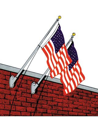 Homesteader Outrigger Flagpole