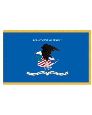 3 x 5 ft. Department of Justice Flag Display w/ Gold Fringe