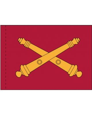 3 x 5 ft. US Field Artillery Branch Flag Pole Sleeve