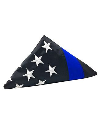Folded Thin Blue Line Flag
