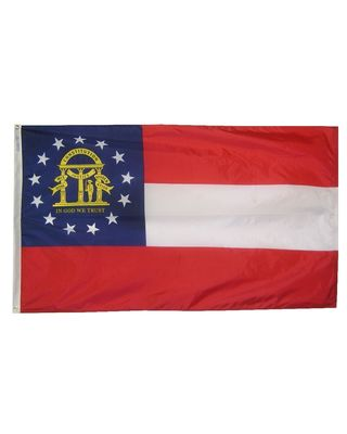 12 x 18 in. Georgia flag