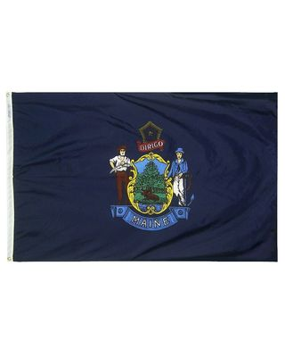 12 x 18 in. Maine flag