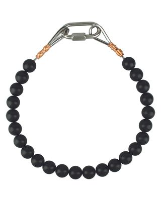 Black Beaded Retainer Rings