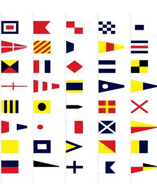 Signal Flag Set - Size 3-1/2 Finished w/ Line Snap and Ring
