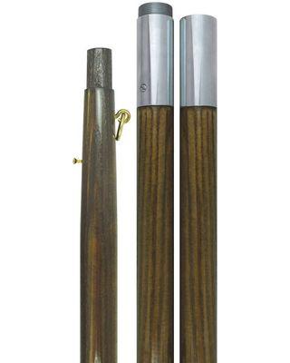 Oak Flag Pole with Chrome Joint