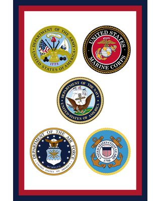 12 in. x 18 in. Armed Forces Garden Flag