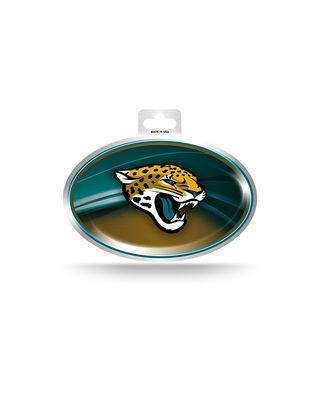 Jaguars Metallic Oval Sticker