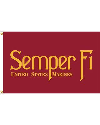 3 ft. x 5 ft. Semper Fi flag