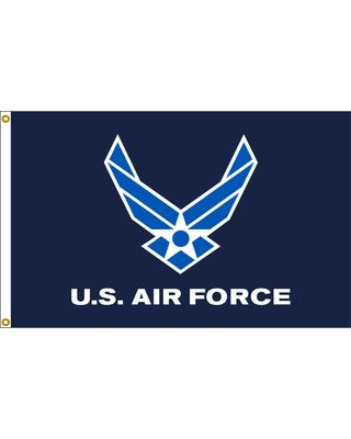 3ft. x 5ft. Blue Air Force Wings Flag