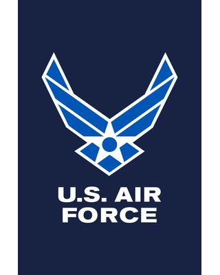 12 in. x 18 in. Blue Air Force Wings Garden Flag