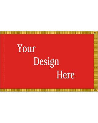 5ft. x 8ft. Custom Flag w/ Pole Hem & Gold Fringe