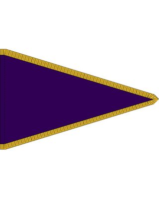 5 x 8 ft. Solid Color Pennants with Pole Hem and Fringe