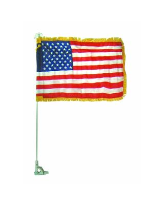 Auto Bracket Flag Fender Set with Eagle Ornament