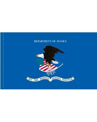 3ft. x 5ft. Dept. of Justice Flag Side Pole Sleeve
