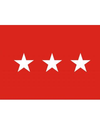 3ft. x 4ft. Army 3 Star General Flag w/Grommets