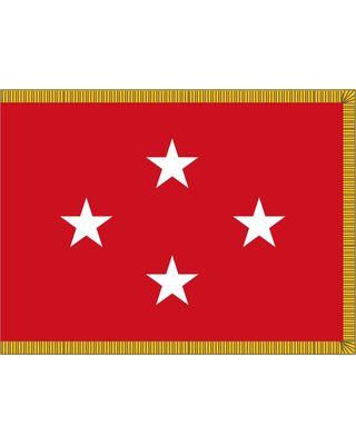3ft. x 4ft. Marine Corps 4 Star General Flag Indoor w/ Fringe