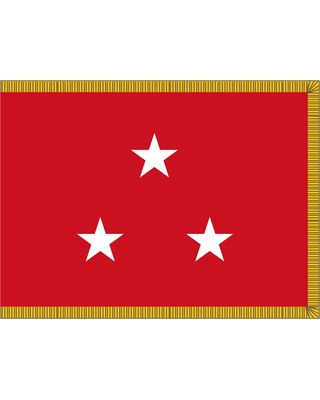 3ft. x 4ft. Marine Corps 3 Star General Flag Indoor w/ Fringe