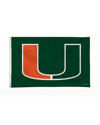 3 ft. x 5 ft. Miami Hurricanes Flag