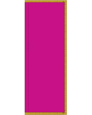 8 x 3 ft. Solid Color Tall Flag with Pole Hem and Fringe