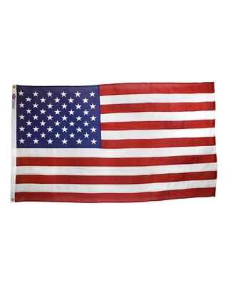 3ft. x 5ft. Best Cotton U.S. Flag with Heading and Grommets