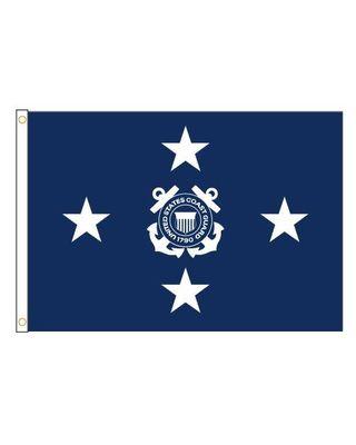 3ft. x 4ft. Coast Guard 4 Star General Flag Indoor Display