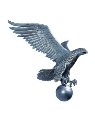19 in. Medium Flagpole Eagle Pewter