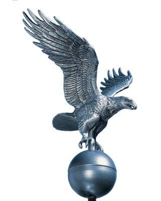 12 in. Medium Flagpole Eagle Pewter