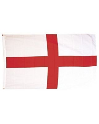 3ft. x 5ft. England Flag Canvas Header with Brass Grommets