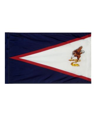 4ft. x 6ft. American Samoa Flag with Side Pole Sleeve