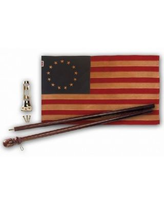 Heritage 13-Star Flag Kit with 2-1/2ft. x 4ft. US Flag