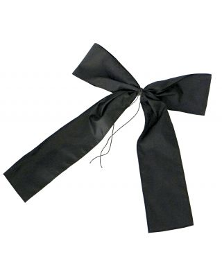16 in. Black Mourning Bow