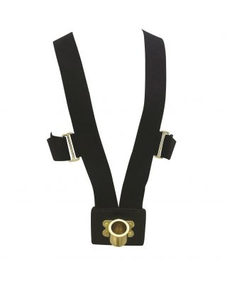 White 10 Rib Web Flag Carrying Harness Brass Cup