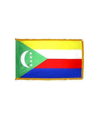 4ft. x 6ft. Comoros Double Sided Flag with Side Pole Sleeve & Fringe