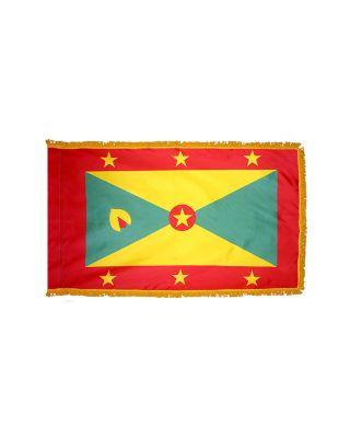 4ft. x 6ft. Grenada Flag with Side Pole Sleeve & Fringe