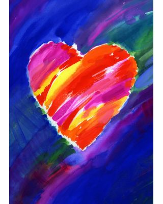 Heart in Blue House Flag