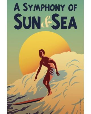 Surf Sun Sea House Flag