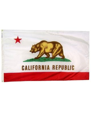 Size 8 - California Flag with Brass Grommets