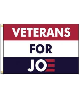 2ft. x 3ft. Veterans for Joe Campaign Flag