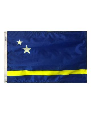 Size 8 Curacao Flag with Canvas Header & Brass Grommets