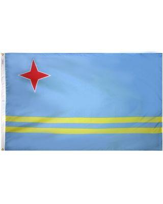 Size 8 Aruba Flag with Canvas Header & Brass Grommets