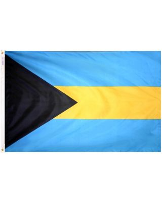 Size 8 Bahamas Flag with Canvas Header & Brass Grommets