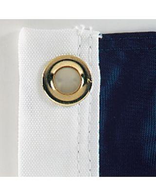 Canvas header and brass grommets