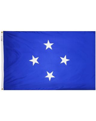 Size 8 Micronesia Flag with Canvas Header & Brass Grommets