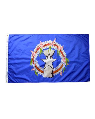 Size 8 Northern Marianas Flag Heading & Grommets