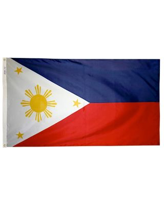 Size 8 Philippines Flag with Canvas Header & Brass Grommets
