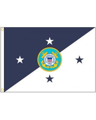 Size 8  USCG Commandant Flag